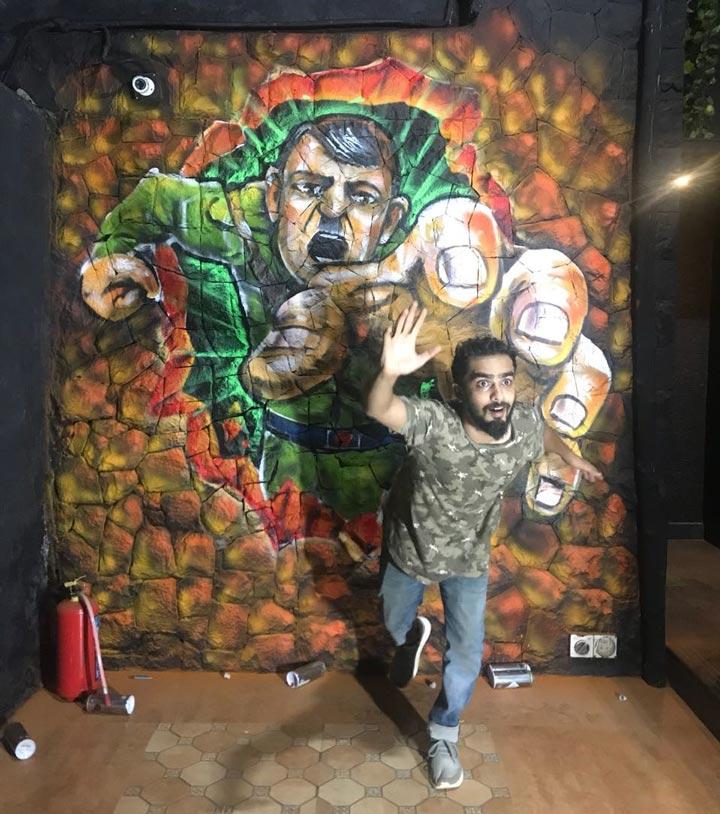 hitler-3d-graffiti-zake-andheri-mumbai-restaurant-graffiti