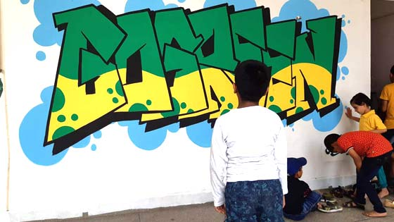 go-green-graffiti-dehradun-wicked-broz-graffiti-workshop1