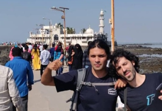 Amaro and RIkis at Haji Ali, Mumbai
