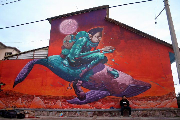 Mural Painted at Zacatecas, México  2015  with Emmanuel Dux