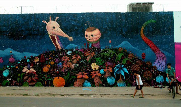 Graffiti Painted by Amaro at the Festival Concreto- Fortaleza