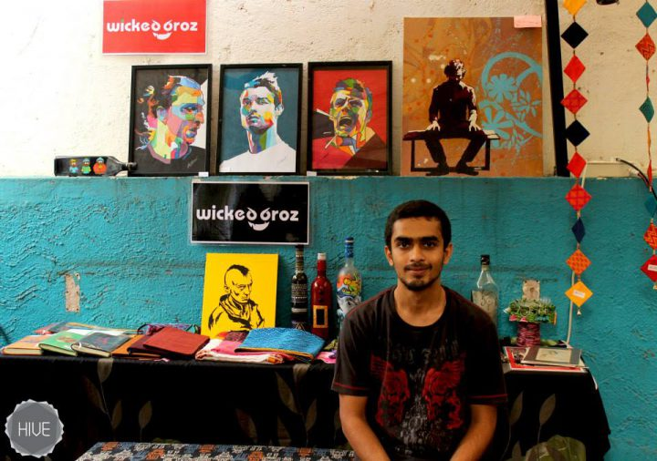 Omkar at a Wicked Broz Stall in 2014