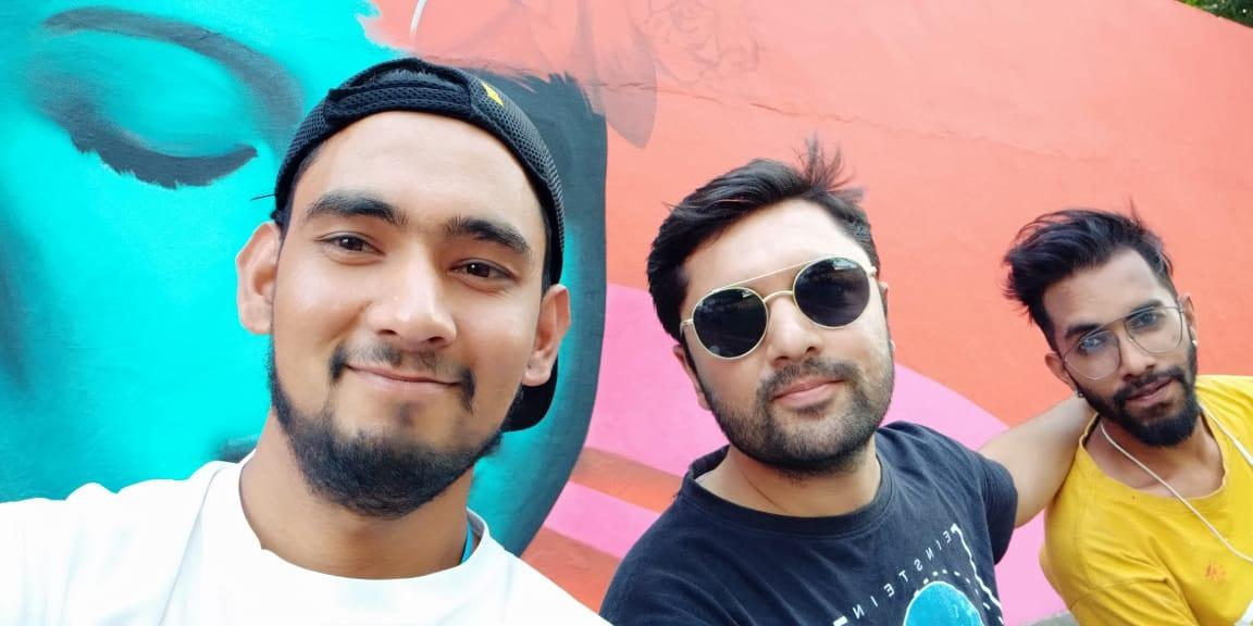 Zain with Afzan and Waste Warriors Team in Dehradun