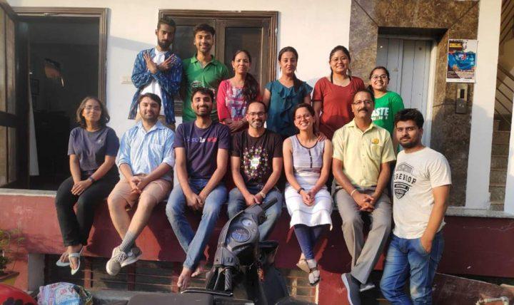 Zain with Waste Warriors Team in Dehradun
