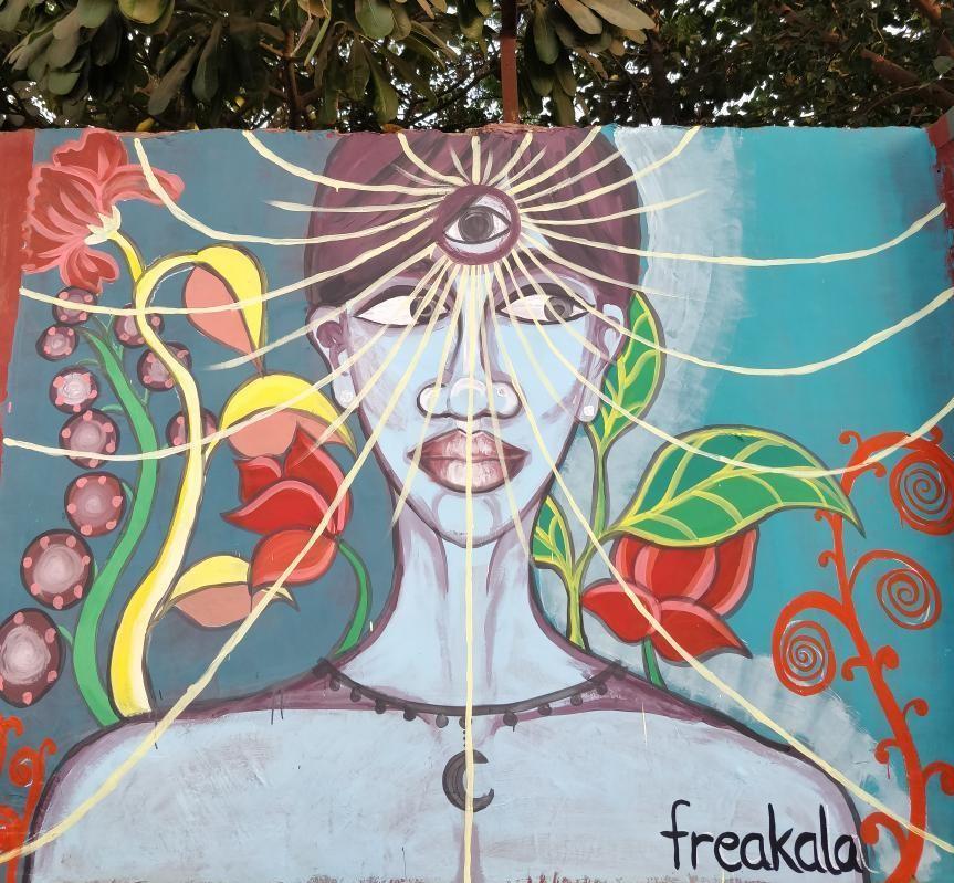 artist shivanika raghav aka freakala at ladies first street art gurugram