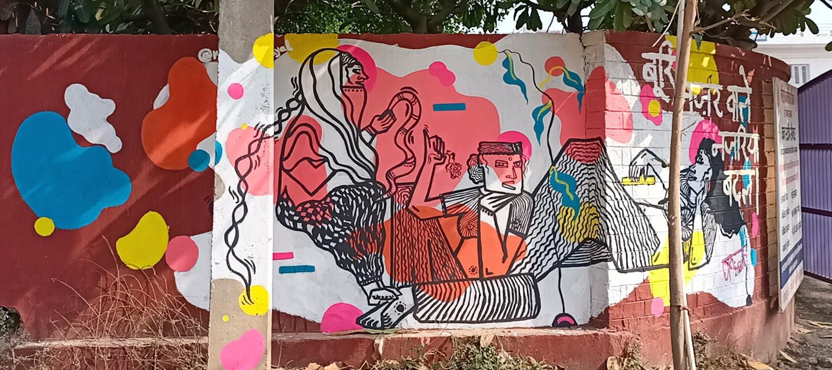 kiran dayal at ladies first street art gurugram