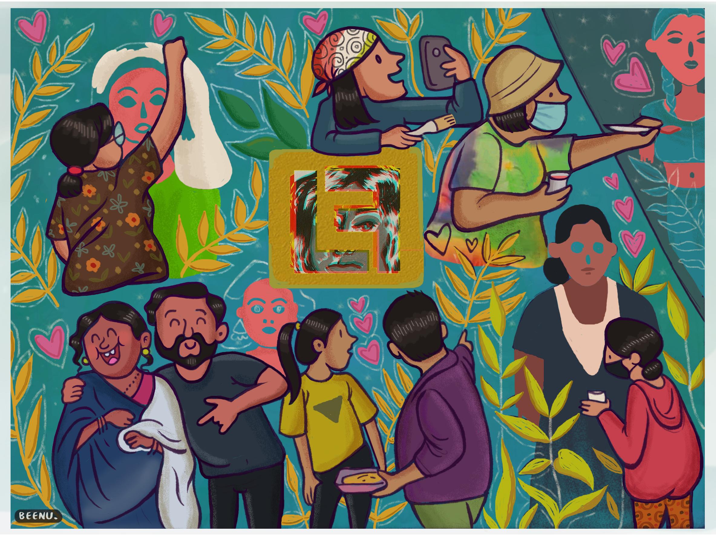 artist beenu aka walkindehra at ladies first street art dehradun